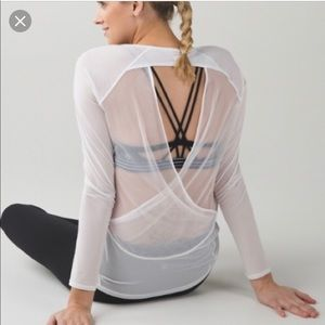I You're Lucky long sleeve tee by Lululemon